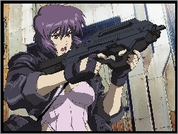 karabin, Ghost In The Shell, kobieta